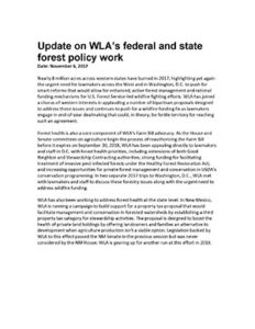Federal and state forest policy work