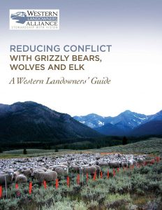 Reducing Conflict with Grizzly Bears Wolves Elk
