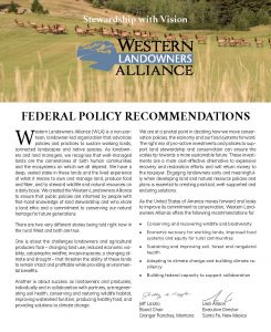 Cover from WLA 2020 Federal Policy Platform _ 10.26.20 _ web