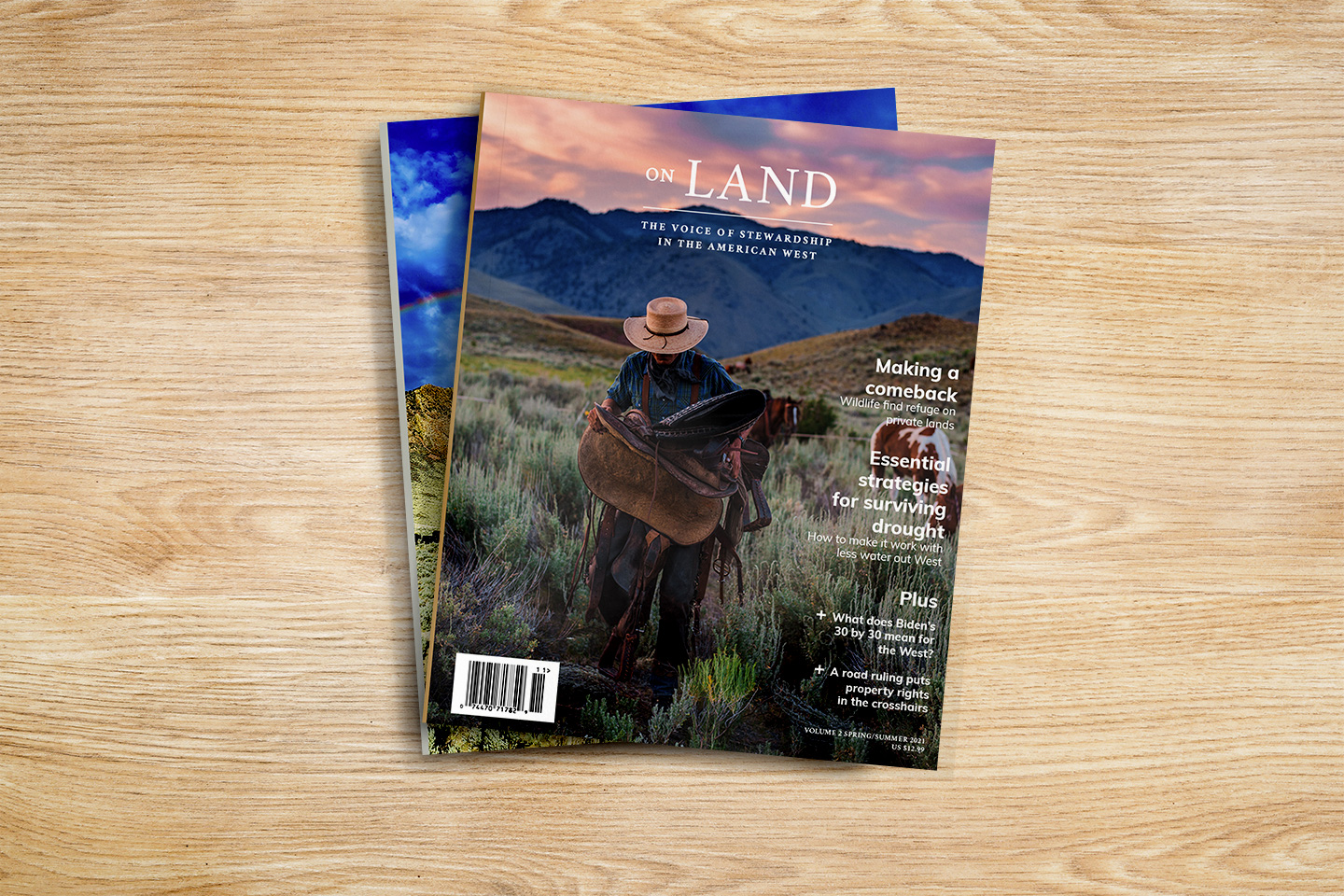 On Land volumes 1 and 2 stack