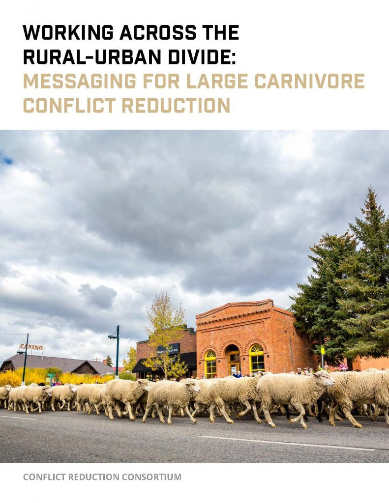Cover from Working Across the Rural-Urban Divide - Messaging for Conflict Reduction - v.F.063021