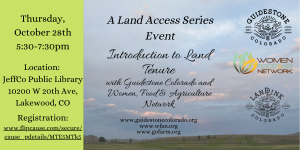Intro to Land Tenure Oct '21 WFAN-GS updated